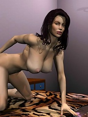 Sweet 3D Princess fucked by 3D Cyclop